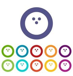 Bowling ball flat icon vector