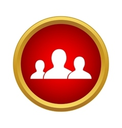 Business team icon in simple style vector image
