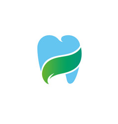 health gradient logo template blue tooth concept i vector image vector image