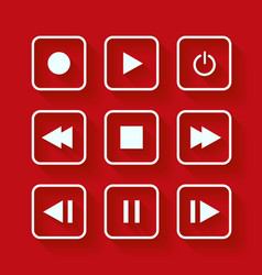Media player control buttons vector image