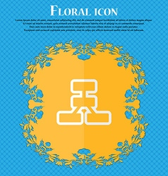 Network Floral flat design on a blue abstract vector image