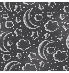 night pattern vector image