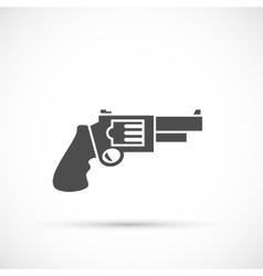 Revolver pistol icon vector image