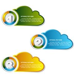 1 2 3 option cloud banner vector image