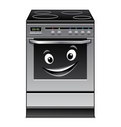 Fun modern stove kitchen appliance vector image vector image