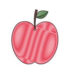 red apple fruit fresh food health icon vector image vector image