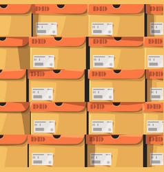 A lot of carton shoe boxes background vector