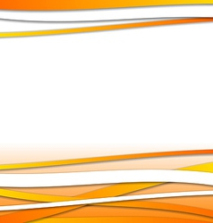 Abstract orange design template with lines vector
