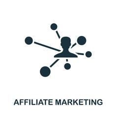 Affiliate marketing icon simple creative element vector