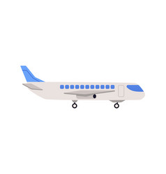 airplane for passengers transportation side view vector image