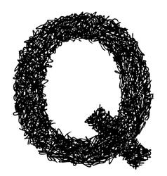 alphabet Q vector image