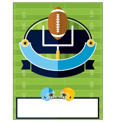 American Football Flyer Template vector
