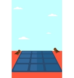 Background of solar panel on the roof vector image