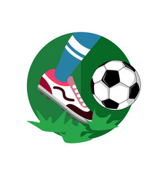 Ball dribbling football vector