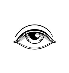 Blackwork tattoo flash eye providence masonic vector
