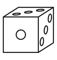 blood dice icon outline style vector image