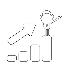 Businessman character standing on top of sales vector
