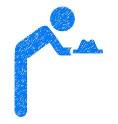 Child servant grunge icon vector