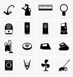 climatic and cleaning appliances vector image