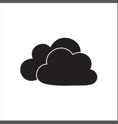 Cloud stylish logo and icon vector
