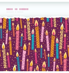 Colorful birthday candles horizontal torn seamless vector