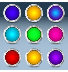 Colorful set of circle buttons vector