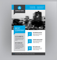 Company brochure corporate flyer cover design vector