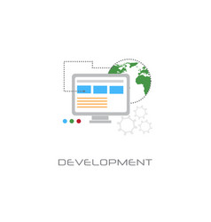 computer programming software development concept vector image
