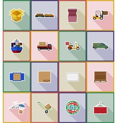 delivery flat icons 18 vector image