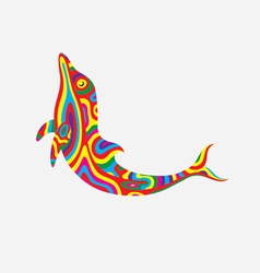 Dolphin colorfully vector
