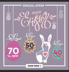 Easter egg sale banner background template 20 vector