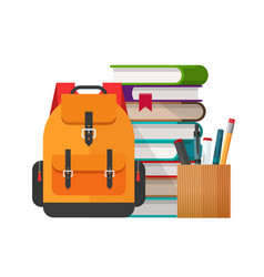 Educational or study stationery stuff vector