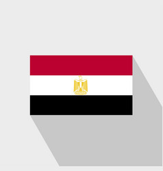 egypt flag long shadow design vector image