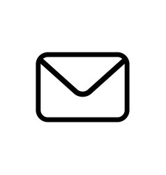 email icon in flat style vector image
