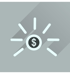Flat icon with long shadow dollar cent vector
