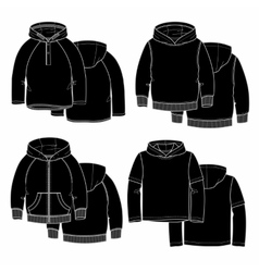 Four hoodies vector image