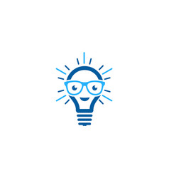 geek idea logo icon design vector image
