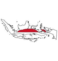 Gharial Indonesia vector image