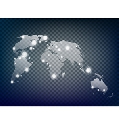Global world map vector image