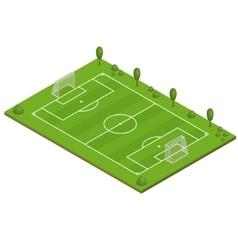 Green Grass Football Field vector