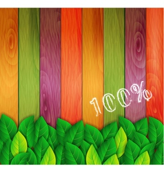 green leaves on a colored background vector image