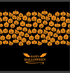halloween funny horror pumpkin greeting card vector image