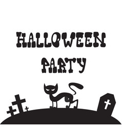 halloween party banner invitation to celebration vector image