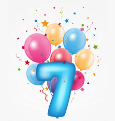 happy birthday balloon with number vector image