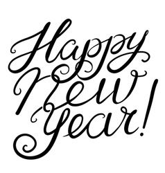 Happy New Year calligraphic lettering vector image