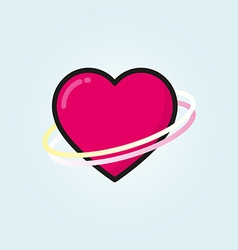 Heart outline color icon modern minimal flat vector image