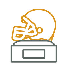 helmet trophy design vector image