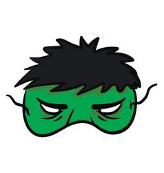 Hulk mask on white background vector