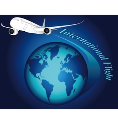 international flight vector image
