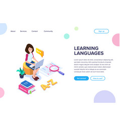 Isometric learning language concept vector